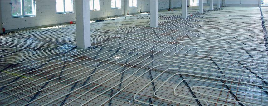 Podlahové topení v průmyslové hale
