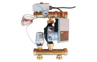Mísící sada v kombinaci hydraulickým oddělovačem nebo akumulační nádrží