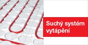 Suchý systém podlahového topení s celkovou výškou 18 mm
