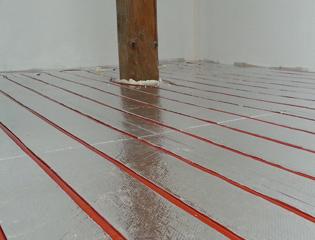 Suchý systém podlahového vytápění